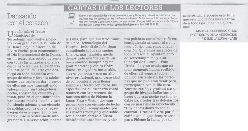 Diario Jaén Carta de los lectores